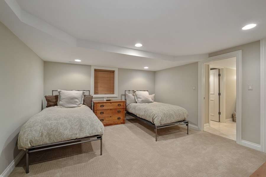Real Estate Photography - 3605 Pebble Beach, Northbrook, IL, 60062 - Lower Level Bedroom