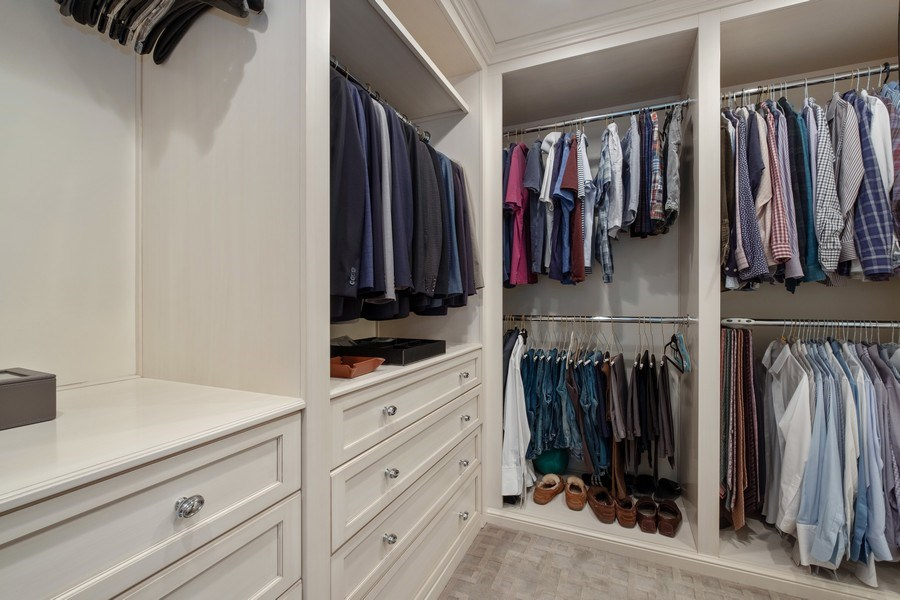 Real Estate Photography - 3605 Pebble Beach, Northbrook, IL, 60062 - Master Bedroom Closet