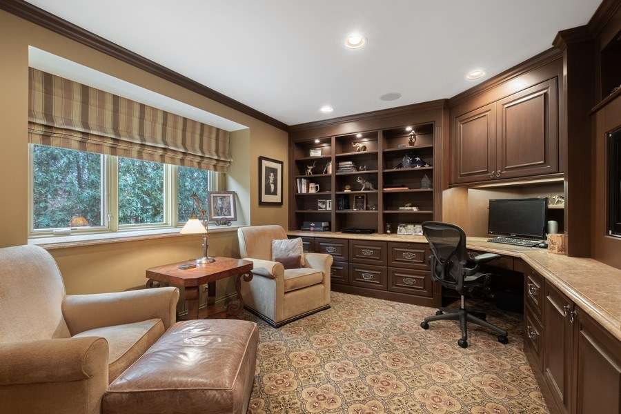 Real Estate Photography - 3605 Pebble Beach, Northbrook, IL, 60062 - Office