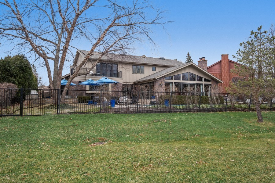 Real Estate Photography - 3605 Pebble Beach, Northbrook, IL, 60062 - Rear View