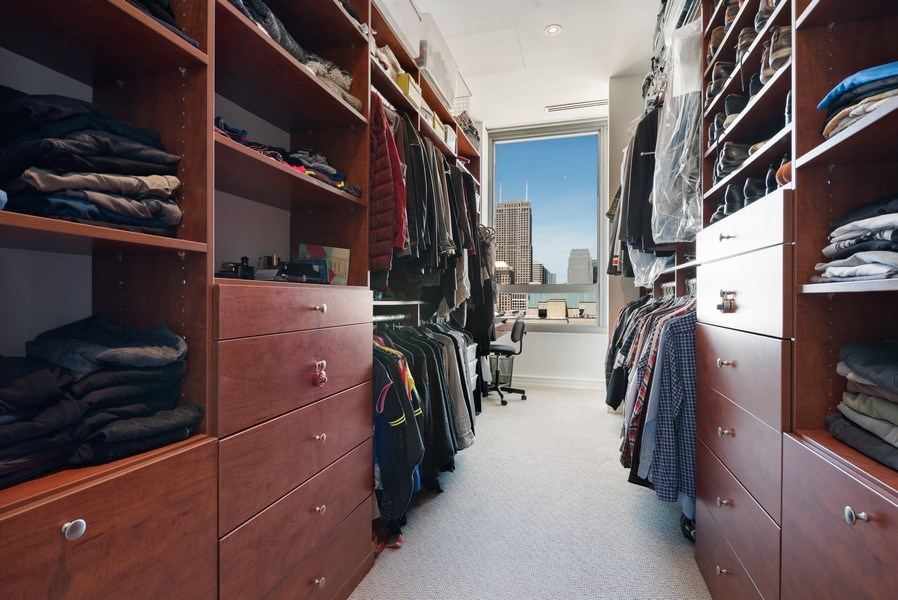Real Estate Photography - 701 S Wells St, Chicago, IL, 60607 - Master Bedroom Closet
