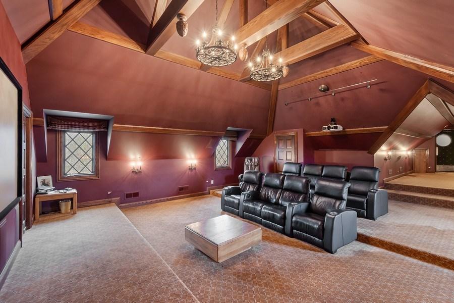 Real Estate Photography - 61 Brinker Rd, Barrington Hills, IL, 60010 - Media Room