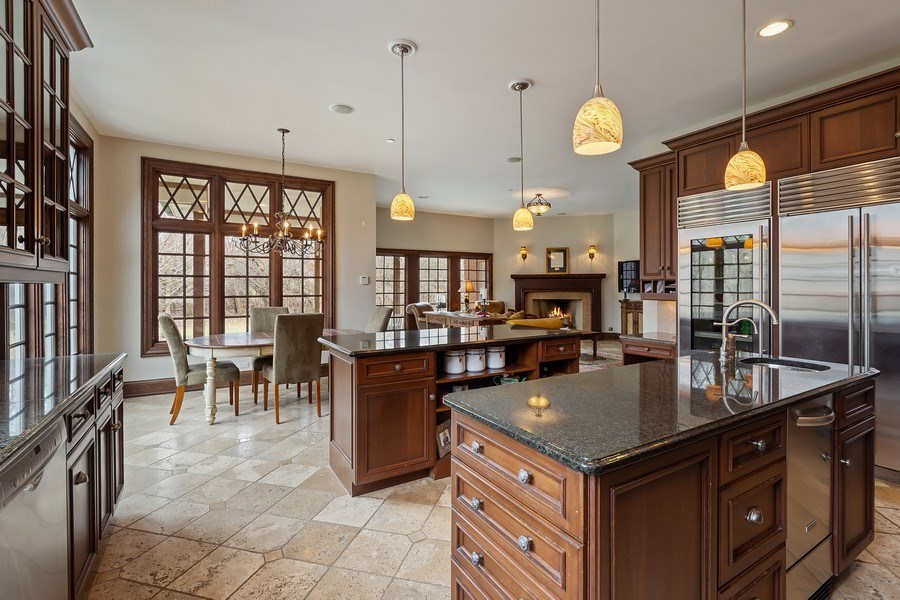 Real Estate Photography - 61 Brinker Rd, Barrington Hills, IL, 60010 - Kitchen