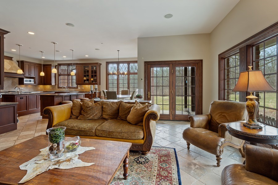 Real Estate Photography - 61 Brinker Rd, Barrington Hills, IL, 60010 - Family Room