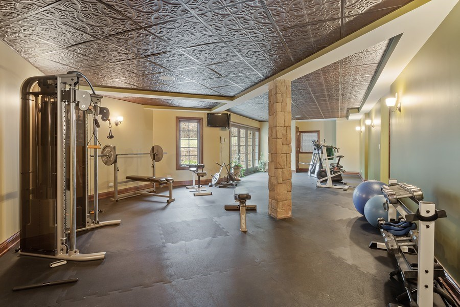 Real Estate Photography - 61 Brinker Rd, Barrington Hills, IL, 60010 - Fitness Room