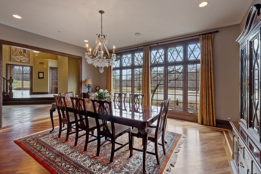 Real Estate Photography - 61 Brinker Rd, Barrington Hills, IL, 60010 - Dining Room