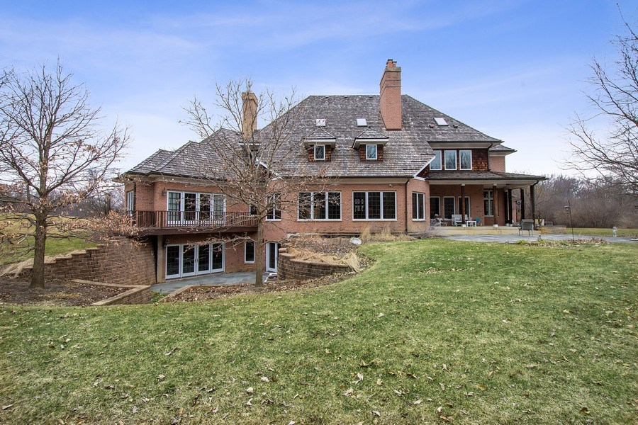 Real Estate Photography - 61 Brinker Rd, Barrington Hills, IL, 60010 - Rear View