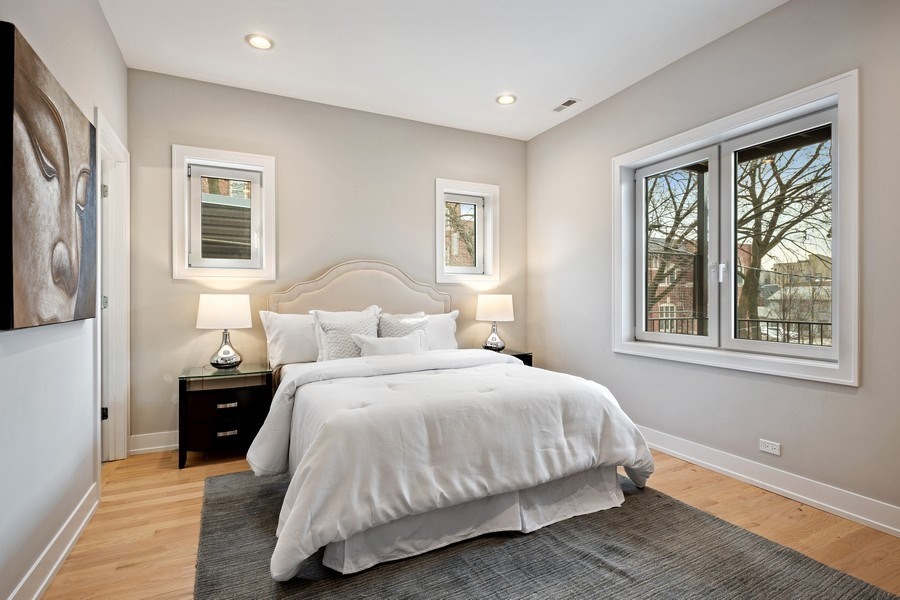 Real Estate Photography - 2302 North Hoyne Avenue, 2, Chicago, IL, 60647 - Master Bedroom