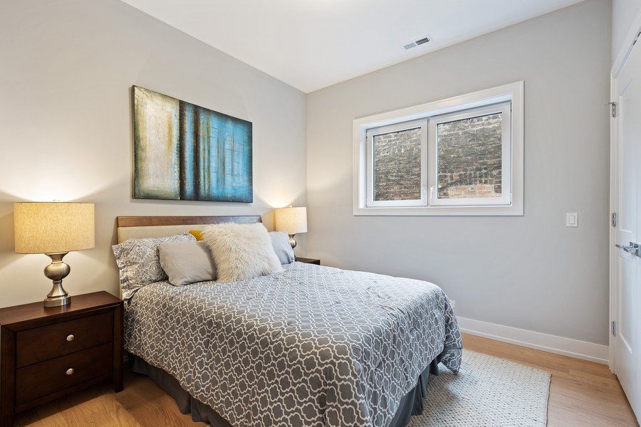 Real Estate Photography - 2302 North Hoyne Avenue, 2, Chicago, IL, 60647 - 2nd Bedroom