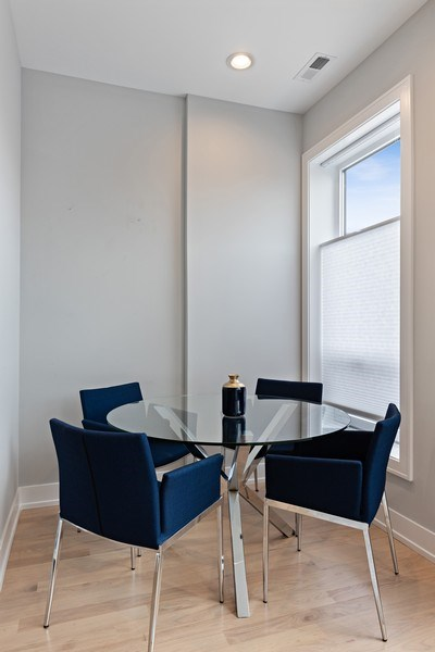 Real Estate Photography - 2302 North Hoyne Avenue, 2, Chicago, IL, 60647 - Dining Area