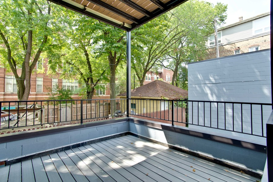 Real Estate Photography - 2302 North Hoyne Avenue, 2, Chicago, IL, 60647 - Balcony