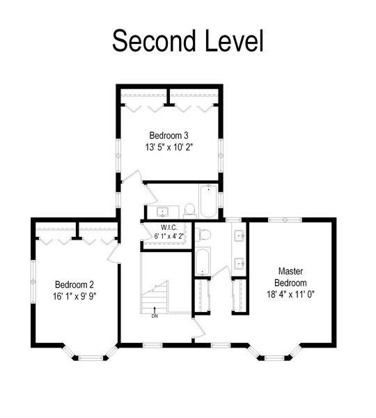 Real Estate Photography - 2029 Colfax, Evanston, IL, 60201 - Floor Plan