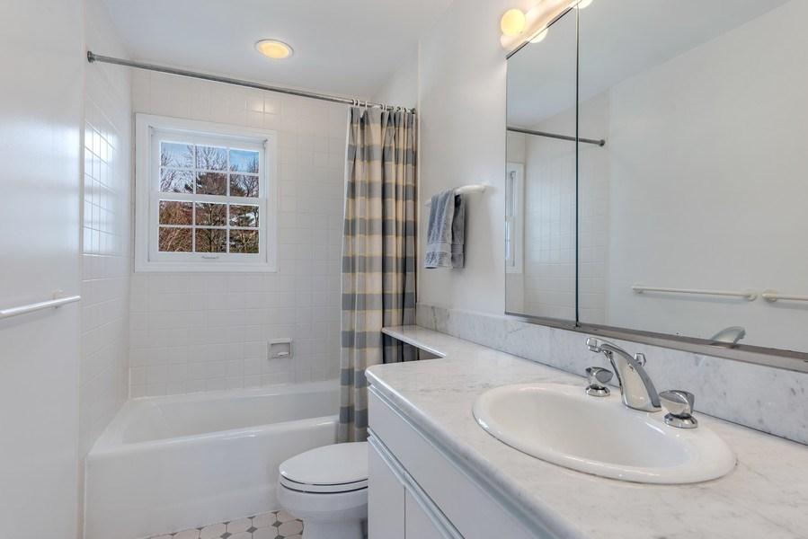 Real Estate Photography - 2029 Colfax, Evanston, IL, 60201 - Second Floor Hall Bath