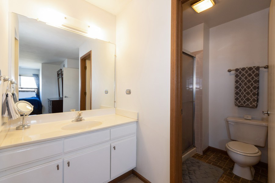 Real Estate Photography - 710 Crescent Court Unit D2, Bartlett, IL, 60103 - Master Bathroom