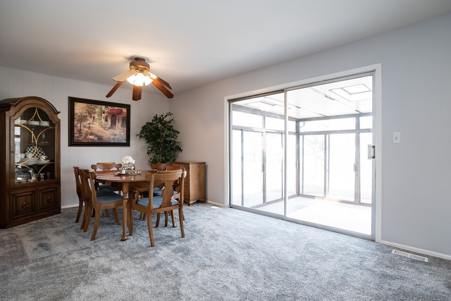 Real Estate Photography - 504 W. Brittany Drive, Arlington Heights, IL, 60004 - Family Room as Dining Room | Sun Room