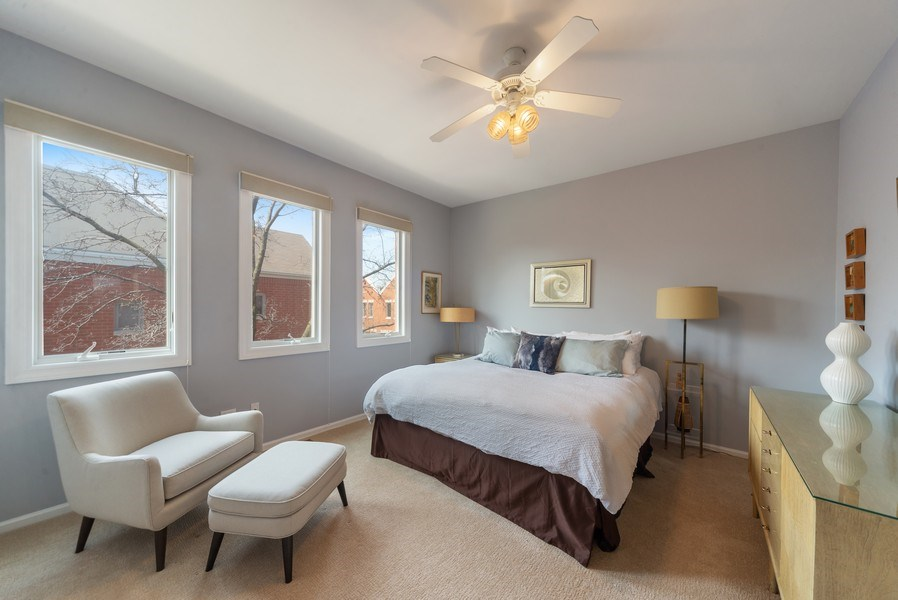Real Estate Photography - 1522 W. School, #F, Chicago, IL, 60657 - Master Bedroom
