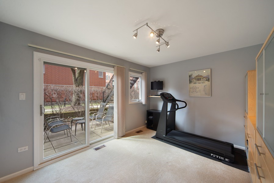 Real Estate Photography - 1522 W. School, #F, Chicago, IL, 60657 - Family Room/Third Bedroom