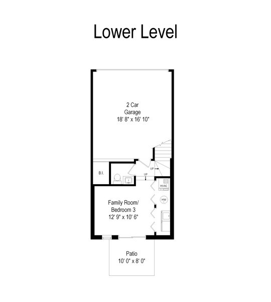 Real Estate Photography - 1522 W. School, #F, Chicago, IL, 60657 - Floor Plan