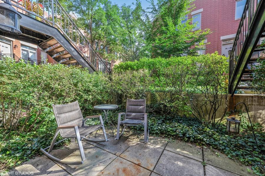 Real Estate Photography - 1522 W. School, #F, Chicago, IL, 60657 - Patio