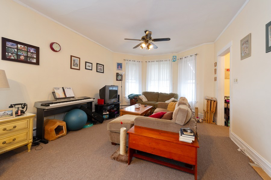 Real Estate Photography - 5024 W Patterson, Chicago, IL, 60641 - Living Room