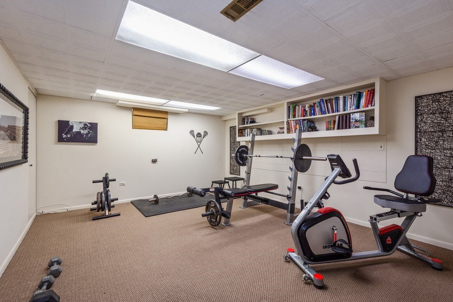 Real Estate Photography - 1 Bellwood Dr, Barrington Hills, IL, 60010 - Exercise Room