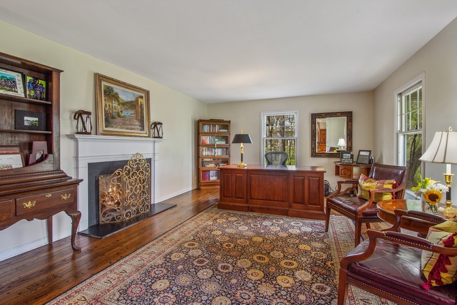 Real Estate Photography - 1 Bellwood Dr, Barrington Hills, IL, 60010 - Office / Living Room