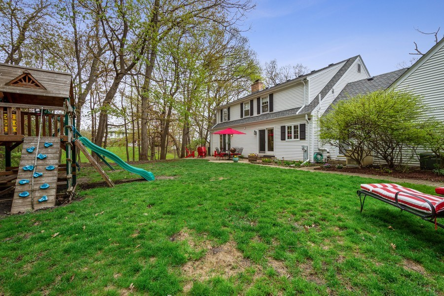 Real Estate Photography - 1 Bellwood Dr, Barrington Hills, IL, 60010 - Rear View