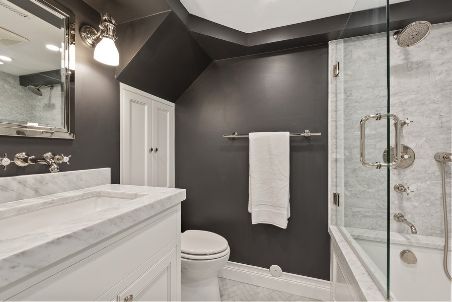 Real Estate Photography - 410 W Webster Ave, Chicago, IL, 60614 - 3rd Bathroom