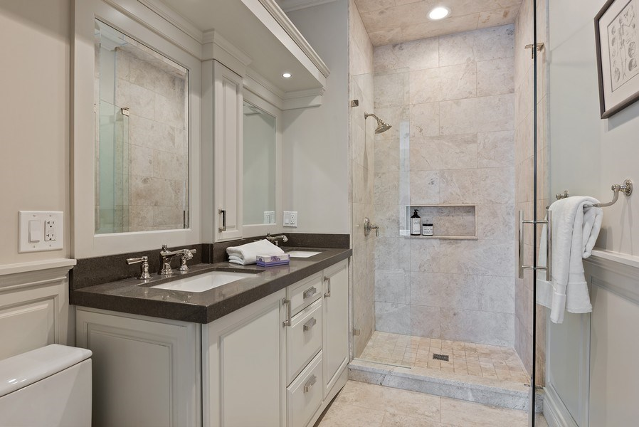 Real Estate Photography - 410 W Webster Ave, Chicago, IL, 60614 - Master Bathroom