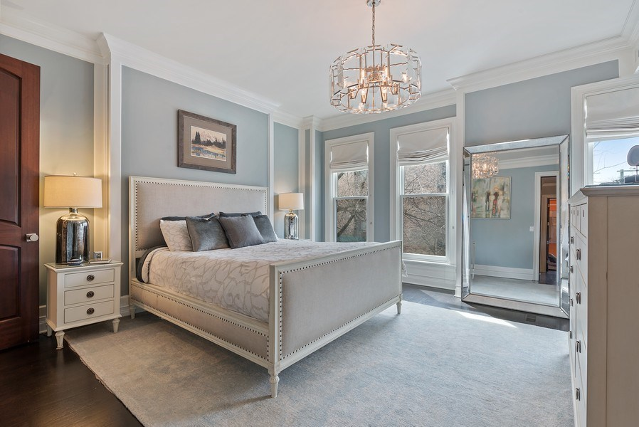 Real Estate Photography - 410 W Webster Ave, Chicago, IL, 60614 - Master Bedroom