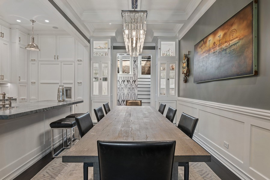 Real Estate Photography - 410 W Webster Ave, Chicago, IL, 60614 - Dining Room