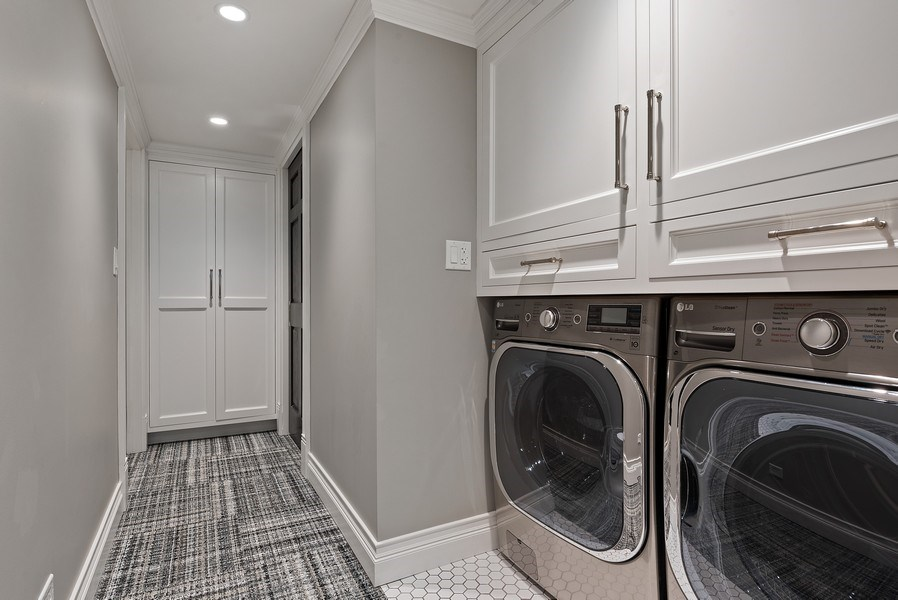 Real Estate Photography - 410 W Webster Ave, Chicago, IL, 60614 - Laundry Room