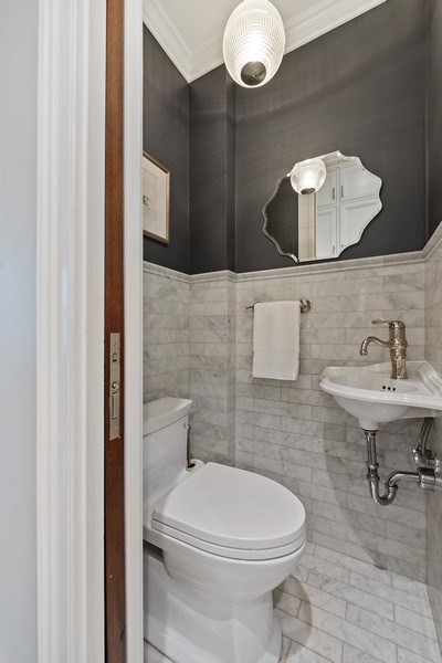 Real Estate Photography - 410 W Webster Ave, Chicago, IL, 60614 - Powder Room