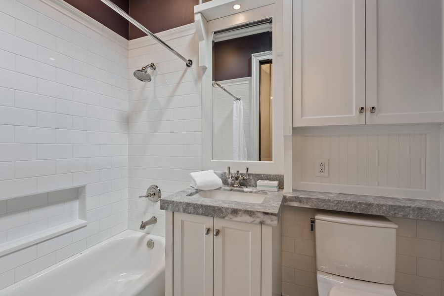 Real Estate Photography - 410 W Webster Ave, Chicago, IL, 60614 - 2nd Bathroom