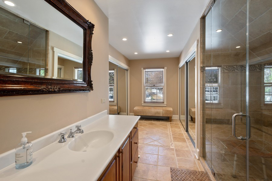 Real Estate Photography - 61 Ridge Road, Barrington Hills, IL, 60010 - Master Bathroom