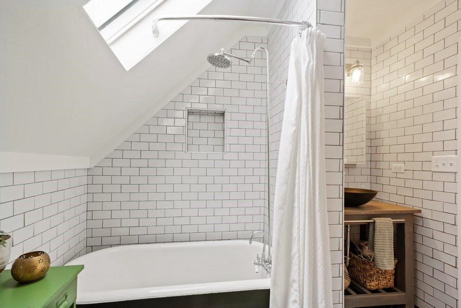 Real Estate Photography - 3016 N Christiana Ave, Chicago, IL, 60618 - 2nd Bathroom