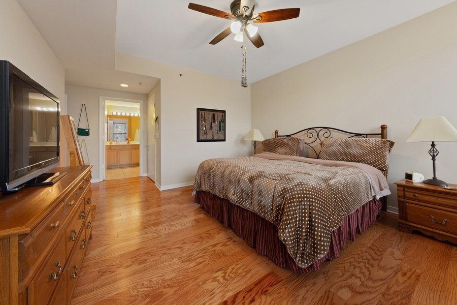 Real Estate Photography - 77 S Evergreen, 806, Arlington Heights, IL, 60005 - Master Bedroom