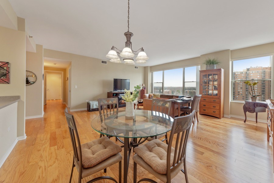 Real Estate Photography - 77 S Evergreen, 806, Arlington Heights, IL, 60005 - Living Room/Dining Room