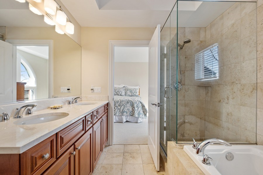 Real Estate Photography - 1771 Dewes, E, Glenview, IL, 60025 - Master Bathroom