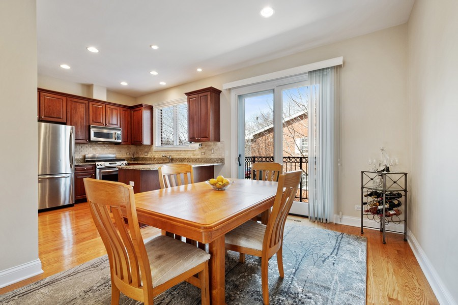 Real Estate Photography - 1771 Dewes, E, Glenview, IL, 60025 - Dining Room