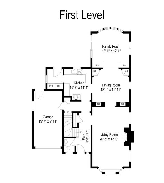 Real Estate Photography - 3044 Harrison St, Evanston, IL, 60201 - Floor Plan