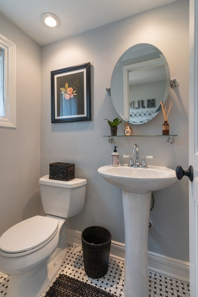 Real Estate Photography - 3044 Harrison St, Evanston, IL, 60201 - Half Bath