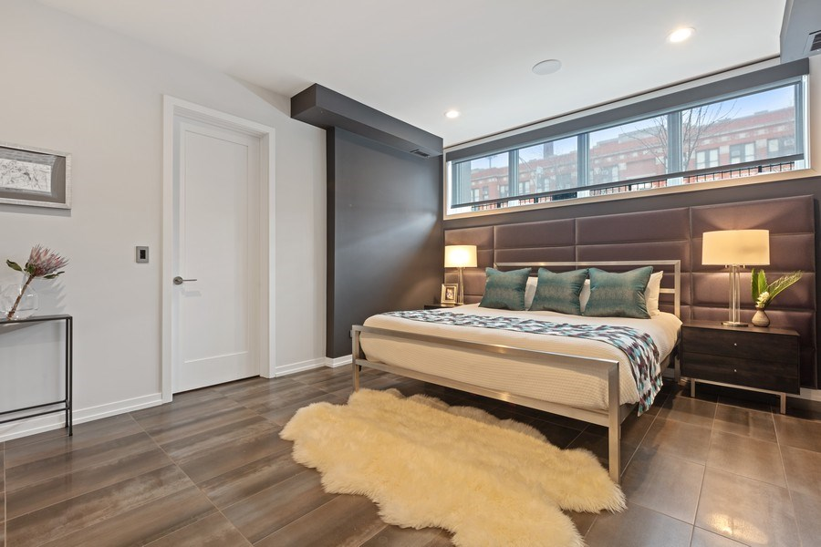 Real Estate Photography - 842 N Campbell Ave, Unit 1S, Chicago, IL, 60622 - Master Bedroom