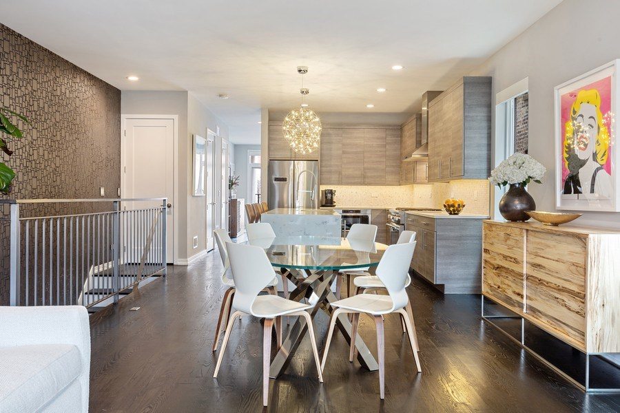 Real Estate Photography - 842 N Campbell Ave, Unit 1S, Chicago, IL, 60622 - Dining Area