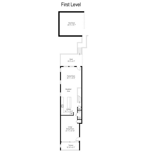 Real Estate Photography - 842 N Campbell Ave, Unit 1S, Chicago, IL, 60622 - Floor Plan