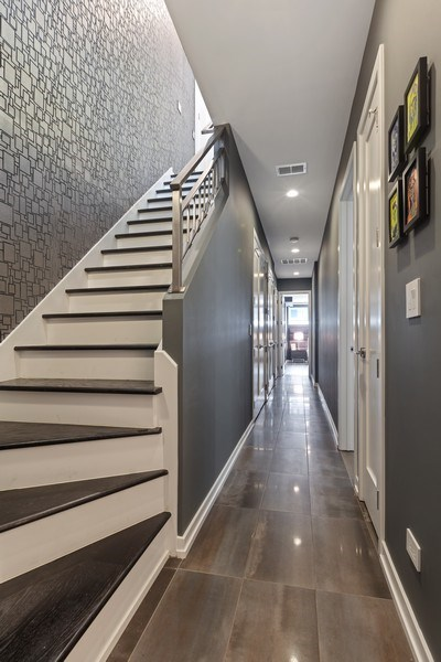 Real Estate Photography - 842 N Campbell Ave, Unit 1S, Chicago, IL, 60622 - Staircase