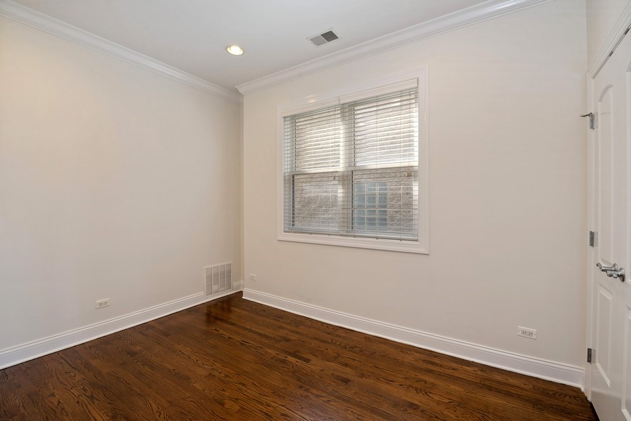 Real Estate Photography - 3333 N Seminary, Unit 3, Chicago, IL, 60657 - 2nd Bedroom