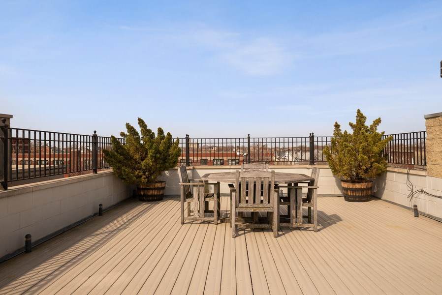 Real Estate Photography - 3333 N Seminary, Unit 3, Chicago, IL, 60657 - Roof Deck