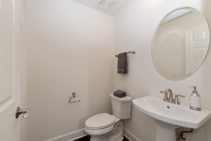 Real Estate Photography - 4135 N Hampton, Glenview, IL, 60025 - Powder Room
