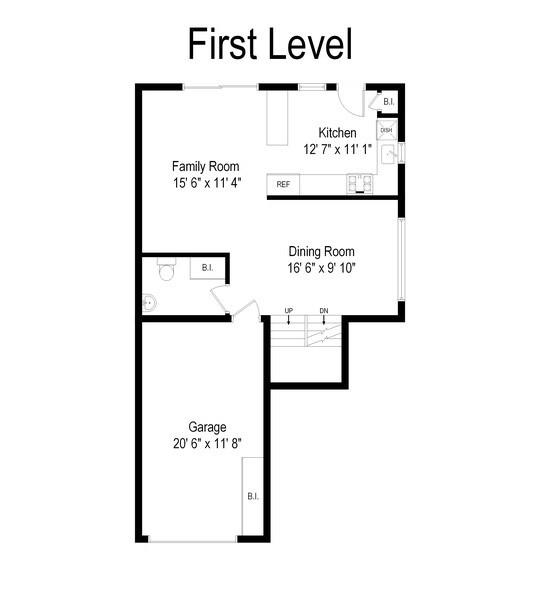 Real Estate Photography - 1727 N Windsor Drive, Arlington Heights, IL, 60004 - Floor Plan